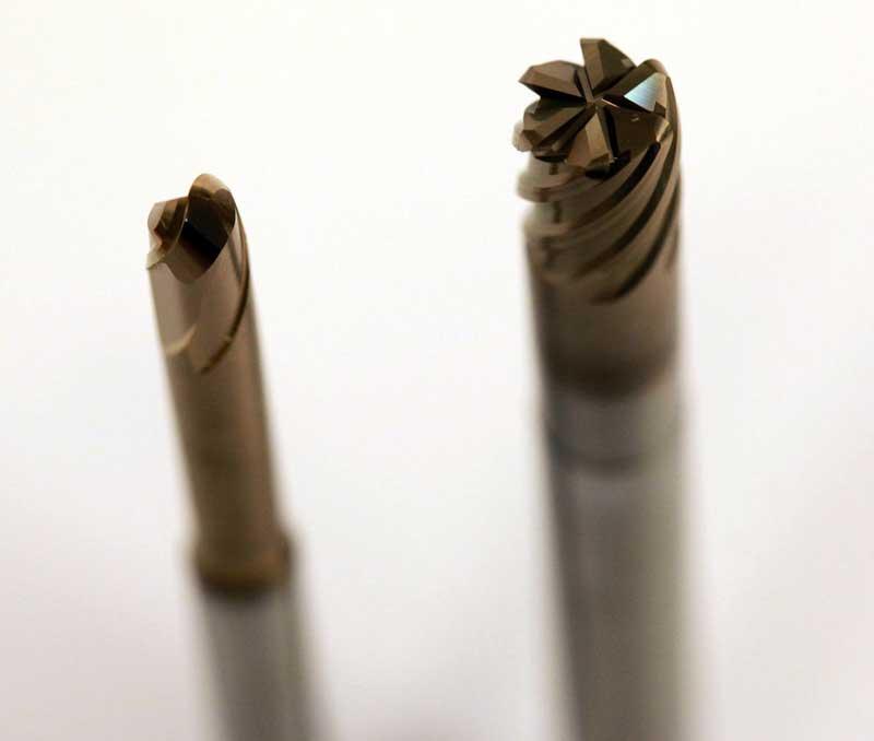 Volhardmetaal micro- en precisiefrezen